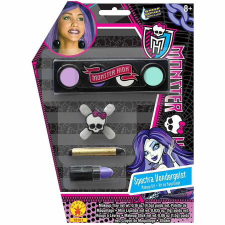 Monster High Spectra Vondergeist Makeup Kit Adult Halloween Accessory (Easy Halloween Cat Makeup Ideas)
