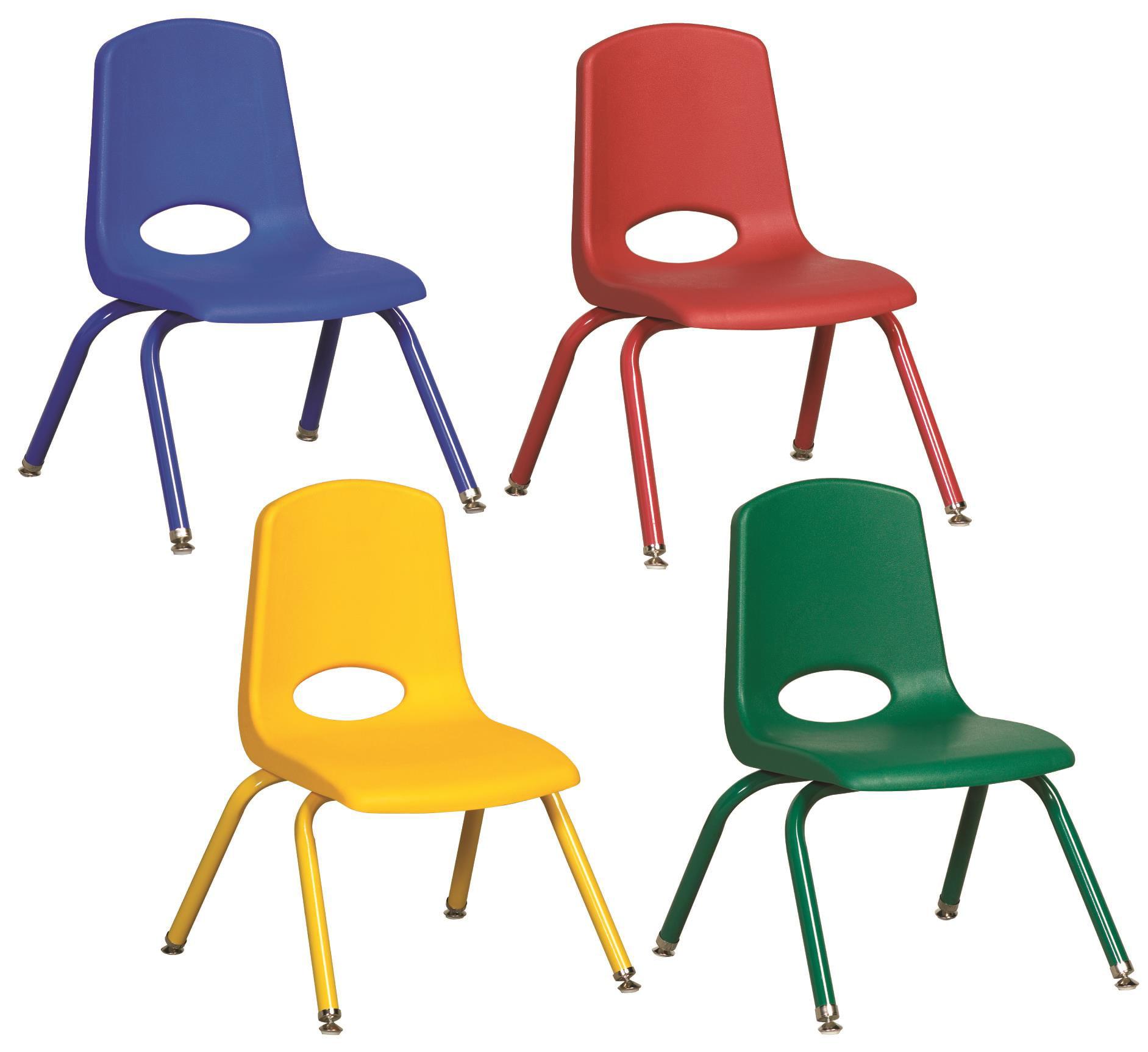 ECR4Kids 14'' Plastic Classroom Chair (Set of 6)