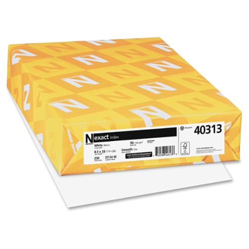 """Exact Index Paper - For Inkjet, Laser Print - Legal - 8.50"""" X 14"""" - 90 Lb Basis Weight - Smooth - 90 Brightness - 250 / Pack - White (wau-40313)"""