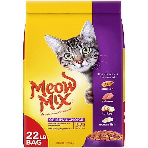 Meow Mix Original Choice Dry Cat Food, 22-Pound