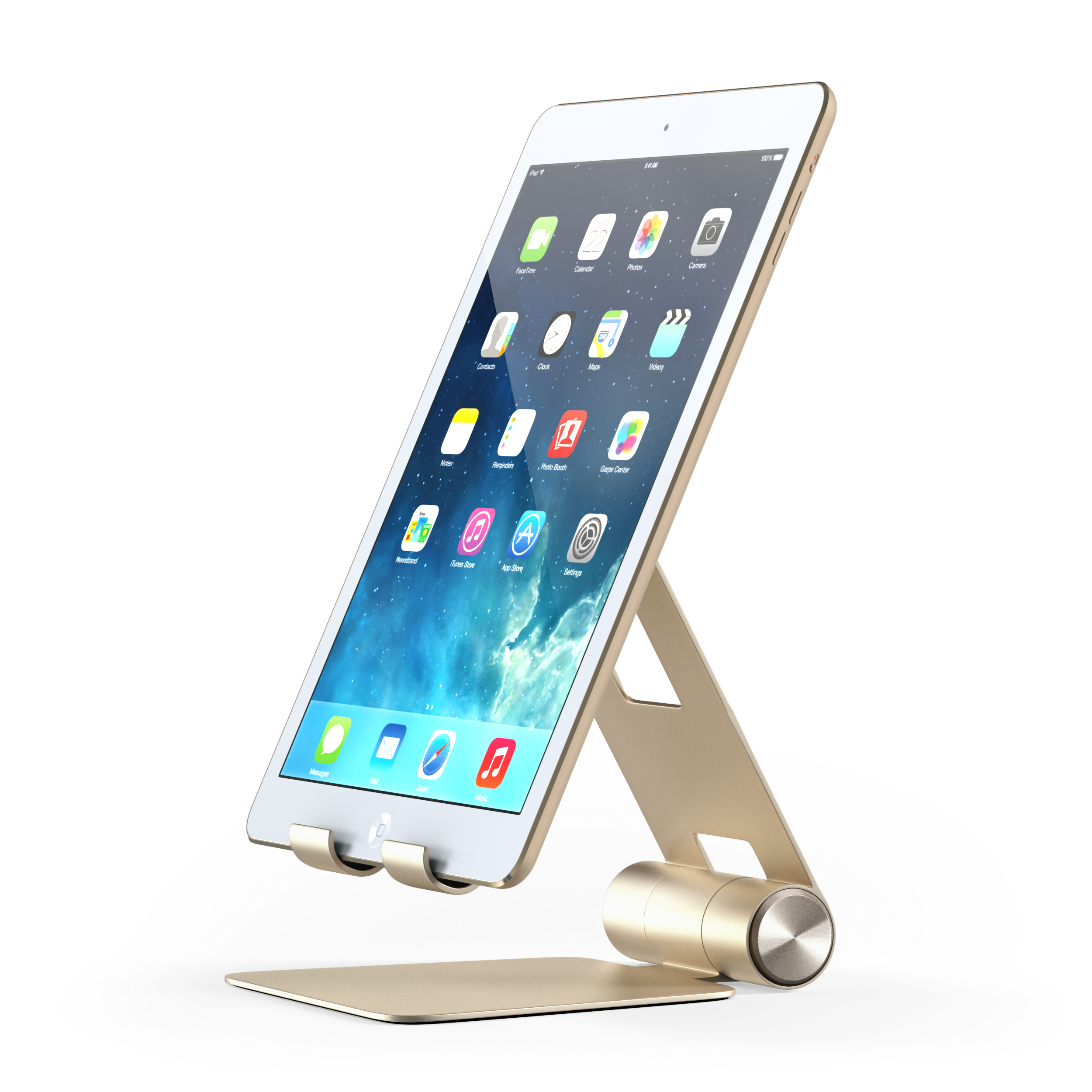 Satechi R1 Aluminum Multi-Angle Foldable Tablet Stand for iPad, iPad Pro, iPhone 7+, Samsung S8, MacBook 2015/2016, Microsoft Surface, Nintendo Switch and more (Gold)