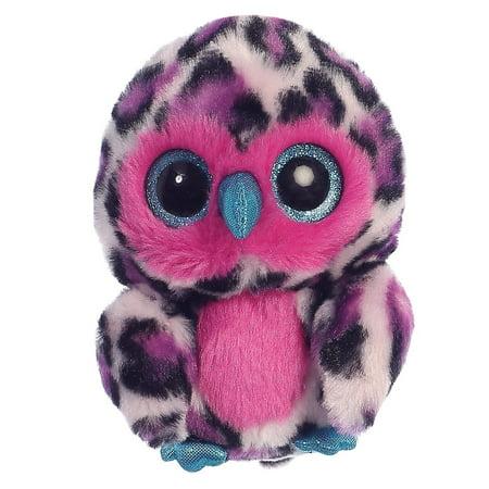 Howie Owl Purple Yoohoo 5 inch - Stuffed Animal by Aurora Plush (29202) - Howie Feltersnatch