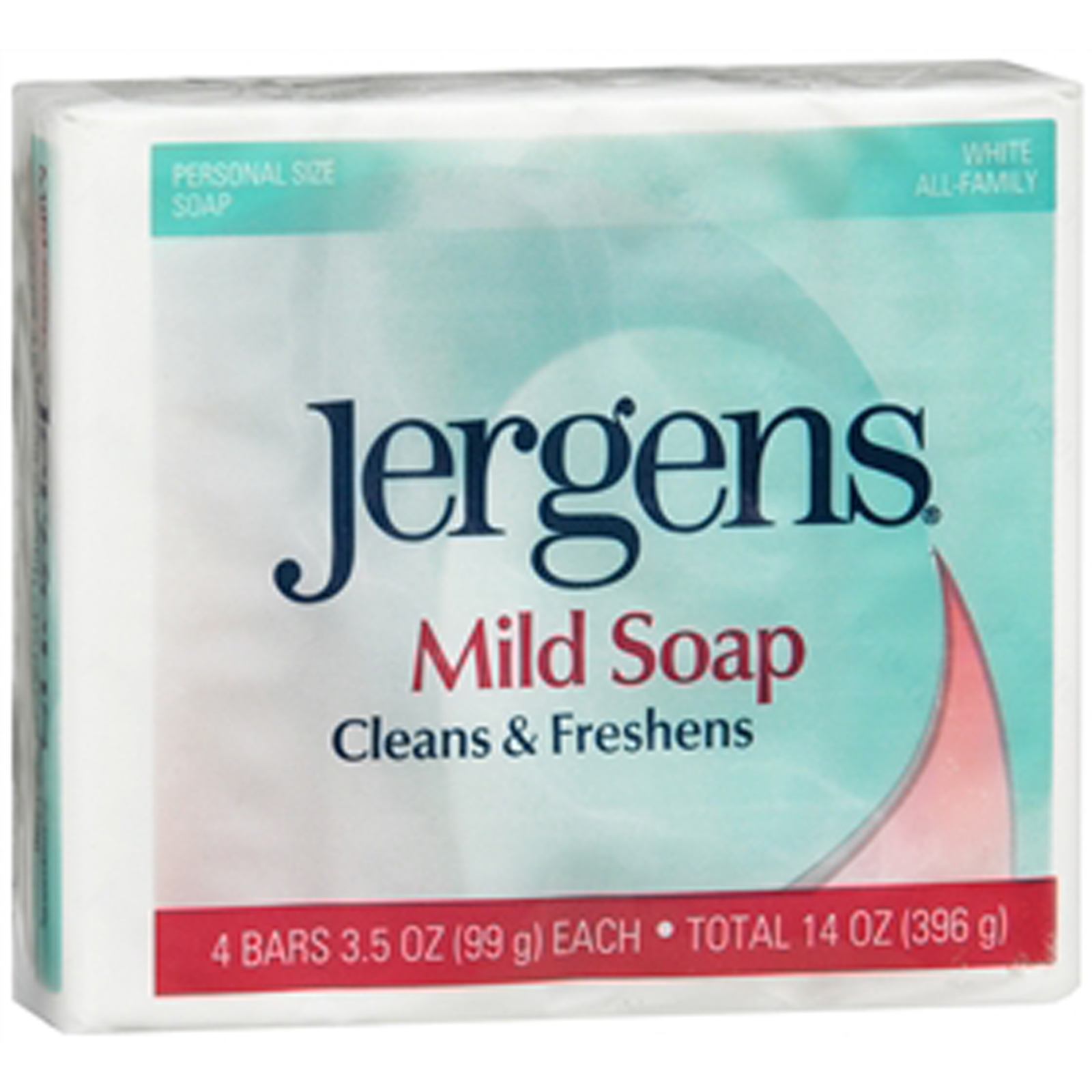 Jergens Mild Soap - 4 Bars
