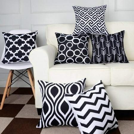 - 6PC/Set Home Decorative Pillow hotsalescase Cotton Linen Sofa Cushion Throw Pillow hotsales Cover