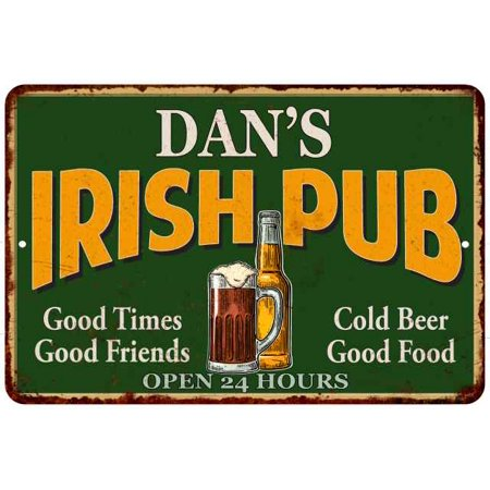 DAN'S Irish Pub Personalized Beer Metal Sign Bar Decor 8x12 108120013182