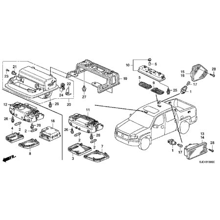 Honda 39180-SHJ-A41ZE Ambient Light Module Honda Ridgeline