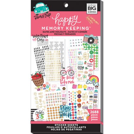 Memory Scrapbook Stickers - Happy Memory Keeping Sticker Value Pack-Dates & Holidays, 2688/Pkg