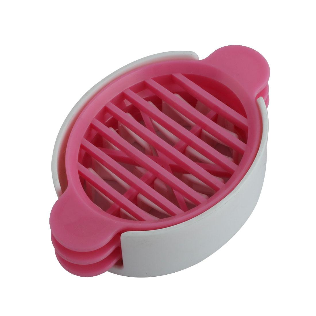 Home Kitchenware Plastic Three Ways Fruit Egg Wedge Slicer Cutter Tool Pink Set