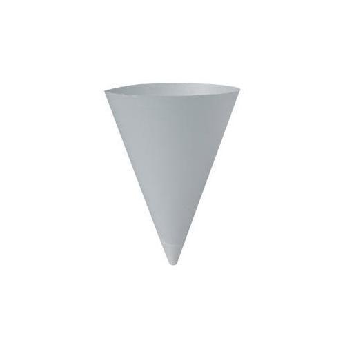 Solo Bare Treated Paper Cone Water Cups, 7 Oz., White, 250/bag SCC156