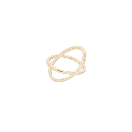 Unique Bargains Club Party Knot Hollow Cross Circle Finger Ring US 4 3/4 for Women