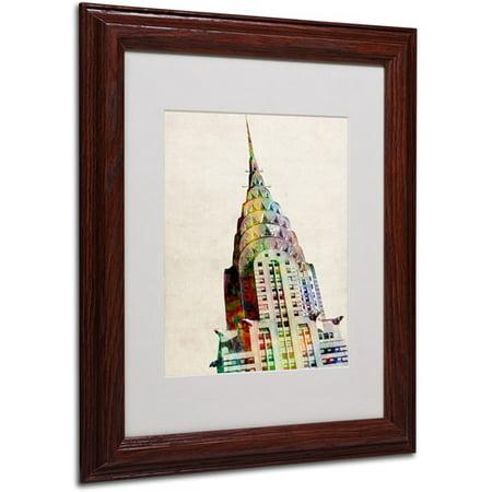 Trademark Art 'Chrysler Building' Matted Framed Art by Michael Tompsett