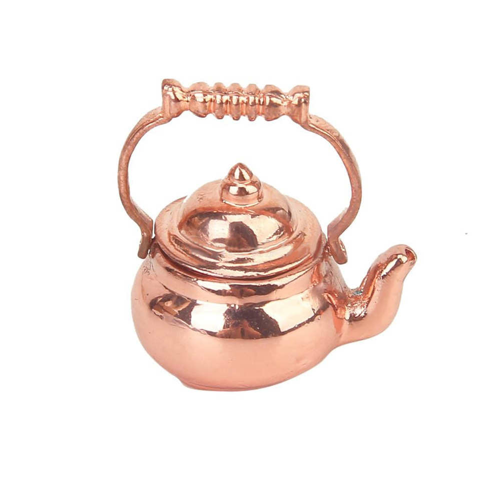 Heepo Tea Kettle Pot Play Furniture Toy for 1/12 Dollhouse Miniature Kitchen Accessory