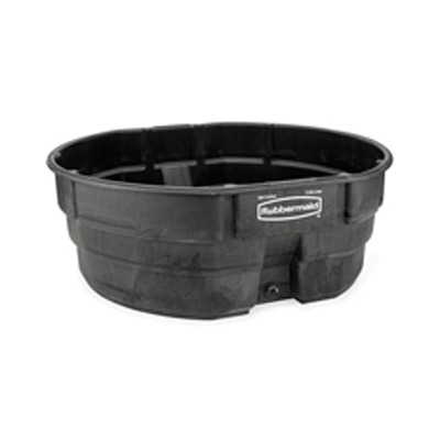 Structural Foam Livestock Tank, 300 Gal, Oval, Black RCP4...