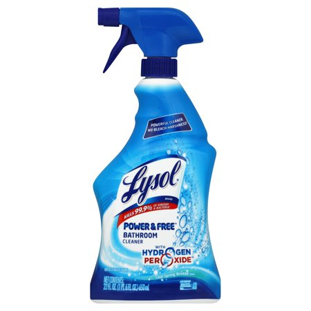 Lysol power and free bathroom cleaner fresh 22 ounce for 9 bathroom cleaning problems solved