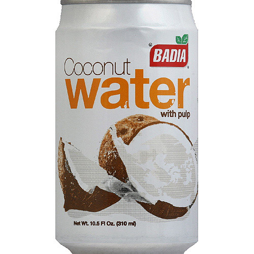 Badia Coconut Water with Pulp, 10.5 Fl Oz, 12 Count