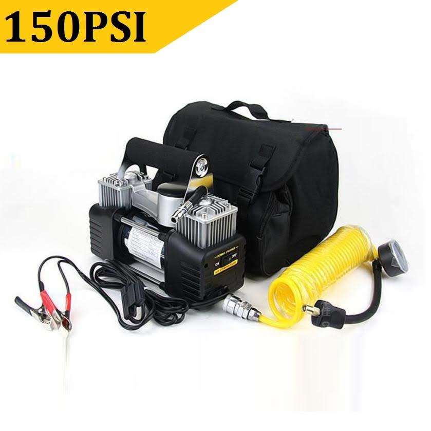 150PSI Tire Inflator Premium 12v DC Portable Auto Air Compressor Pump for Car, Truck, Bicycle or Basketballs, Air Bed Mattress and Other Inflatables