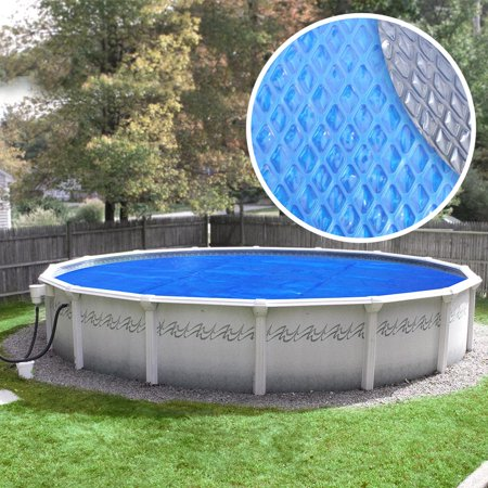 - Crystal Blue Heavy-Duty Space Age Diamond Solar Cover for Round Above Ground Swimming Pools