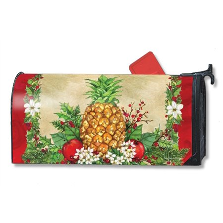 Magnet Works Holiday Pineapple Magnetic Mailbox Wrap Cover