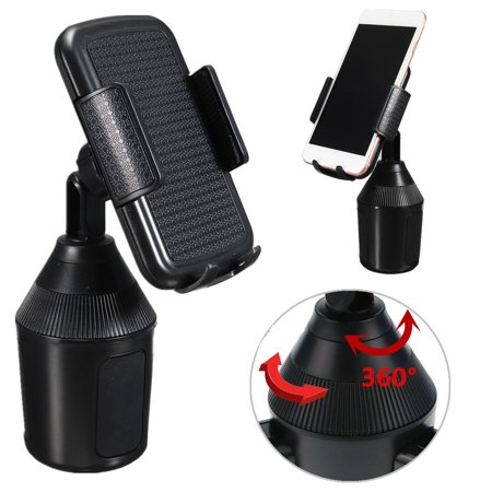 Adjustable Cup Holder Car Mount for iPhone Cell Phone Universal Cup Holder ()