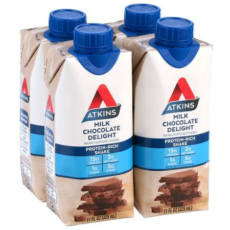 Atkins Gluten Free Protein-Rich Shake, Milk Chocolate ...