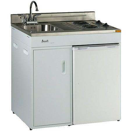Avanti 36 Complete Compact Kitchen White W Ss Top 3 0