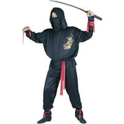Ninja Fighter Adult Halloween Costume, Size: Up to 200 lbs - One Size