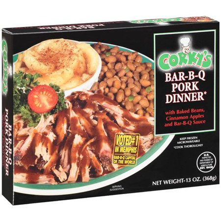 Corky 39 s bar b q pork dinner 13 oz for Corky s garden center