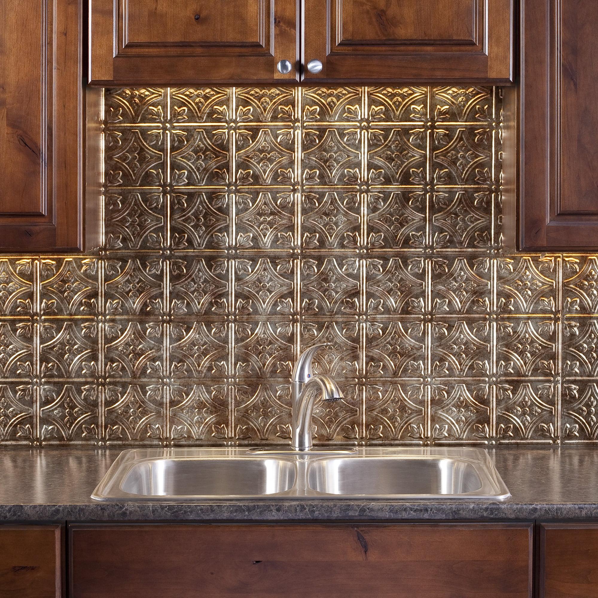 - Fasade Easy Installation Traditional 1 Antique Bronze Backsplash