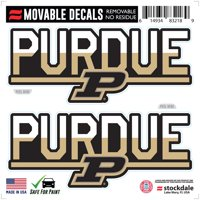 """Purdue Boilermakers 6"""" x 6"""" Two-Tone Repositionable Decal 2-Pack Set"""
