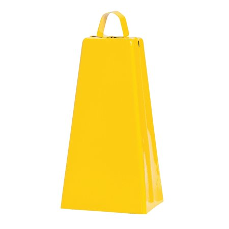 Fun Express - Yellow Jumbo Cowbell (pc) - Toys - Noisemakers - Spirit Noisemakers - 1 Piece - Spirit Cowbells