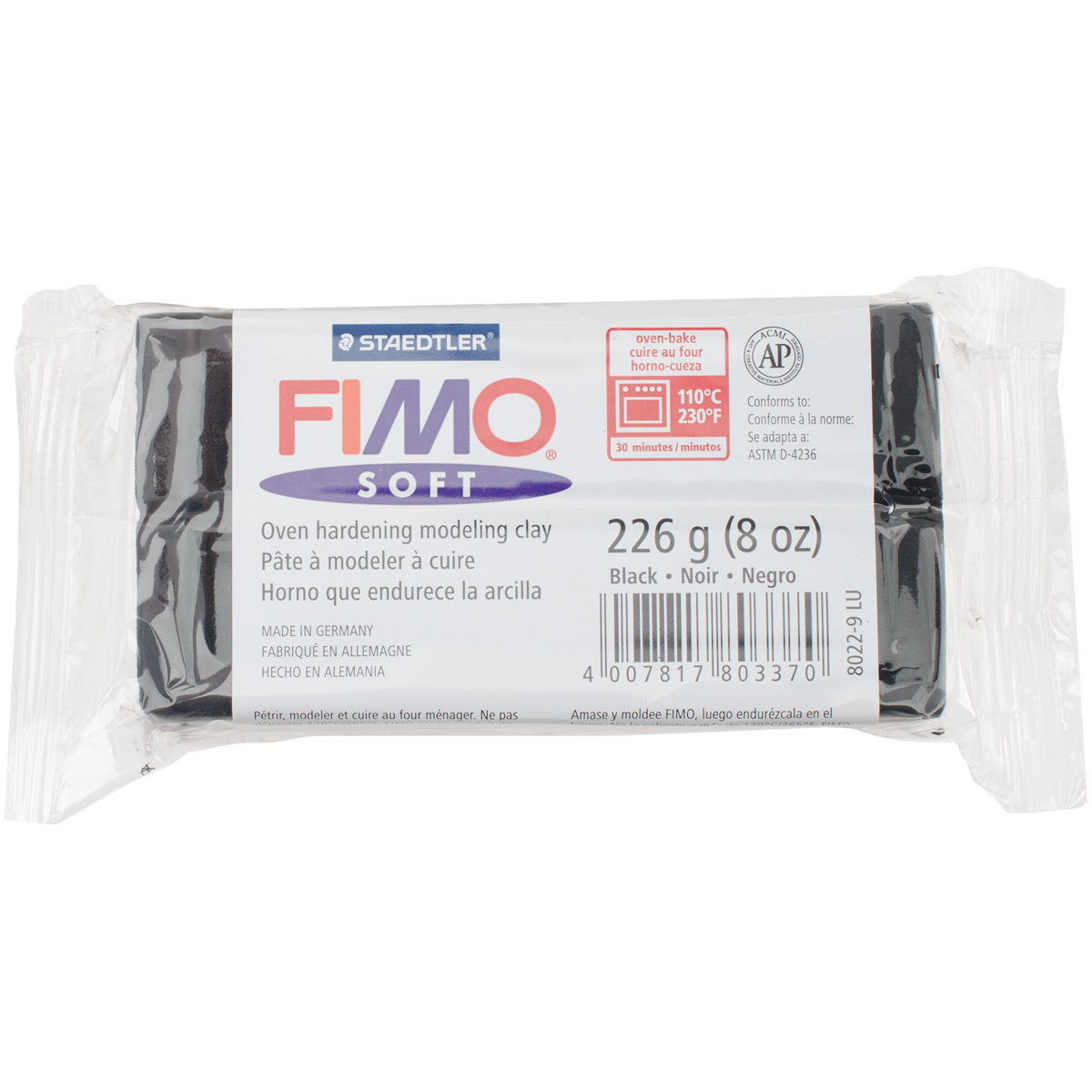 FIMO Soft Oven-Bake Clay 8oz-Black