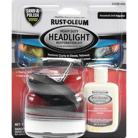 Pack 1 Kit - Rust-Oleum Headlight Restoration Kit 1 Pack