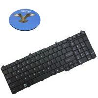 HQRP Keyboard for Toshiba Satellite L775D-S7132 / L775D-S7135 / L775D-S7206 / L775D-S7210 / L775D-S7220 / L775D-S7220GR Notebook plus HQRP Coaster