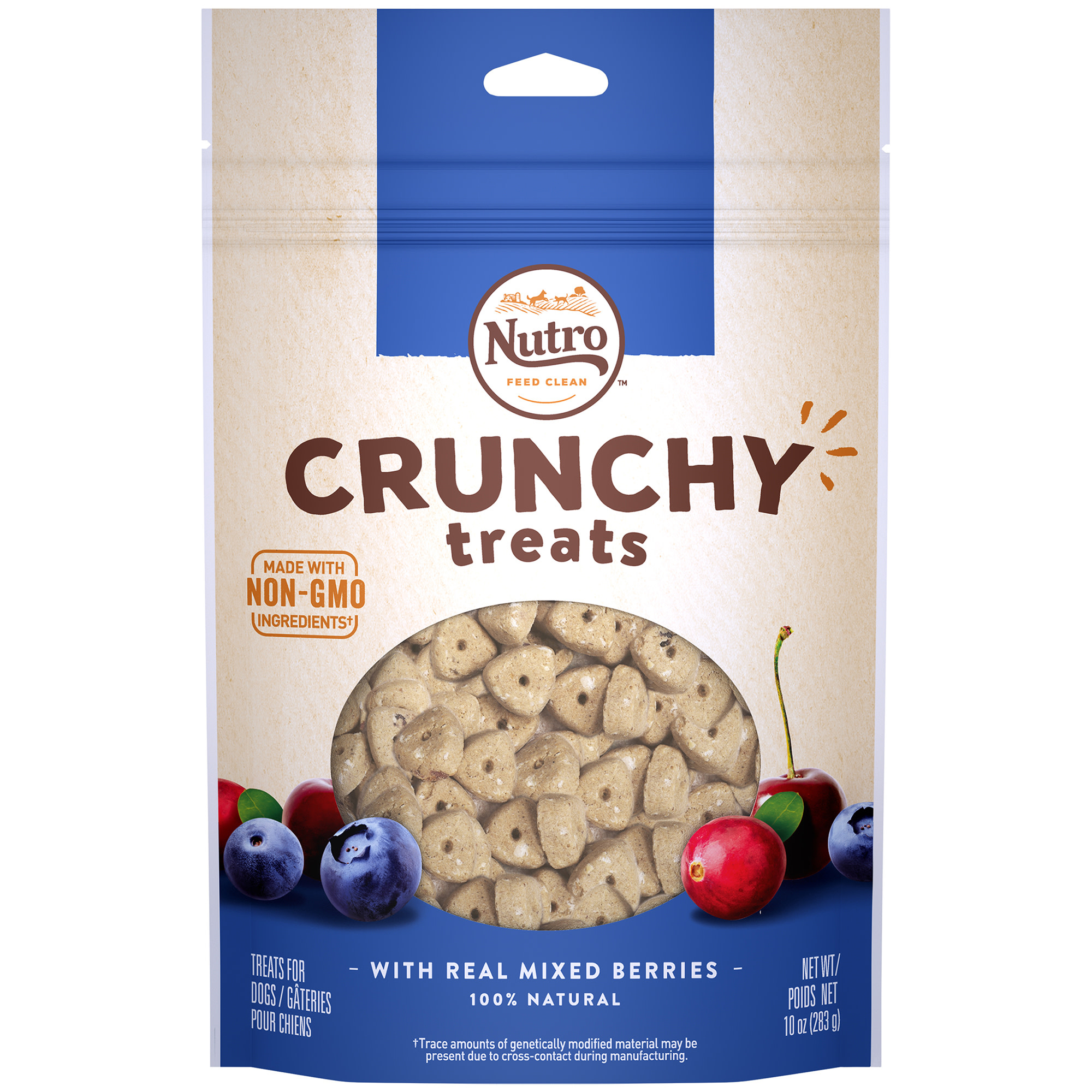 Nutro Crunchy Dog Treats with Real Mixed Berries, 10 Oz Bag by Mars Petcare Us
