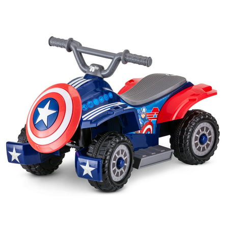 Marvel's Captain America Toddler Quad, 6-Volt Ride-On Toy by Kid Trax - Cheap Kid Toys