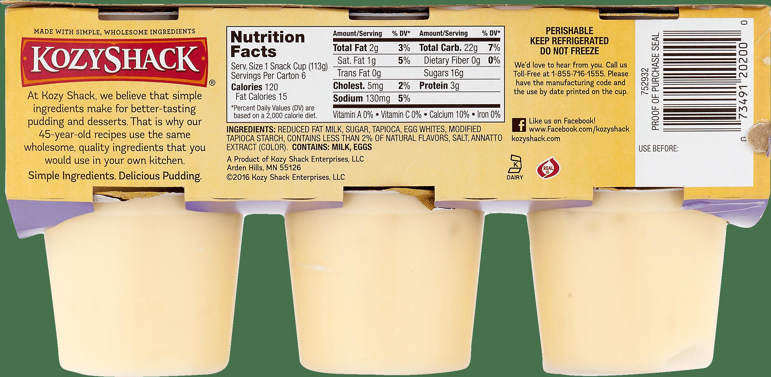 kozy shack繧箘 tapioca pudding original recipe 6 ct walmart