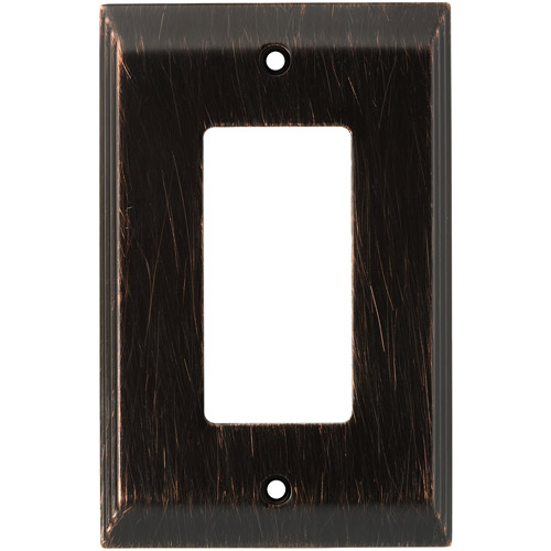 Franklin Brass Stately Single Decorator/GFCI Wall Plate in Venetian Bronze