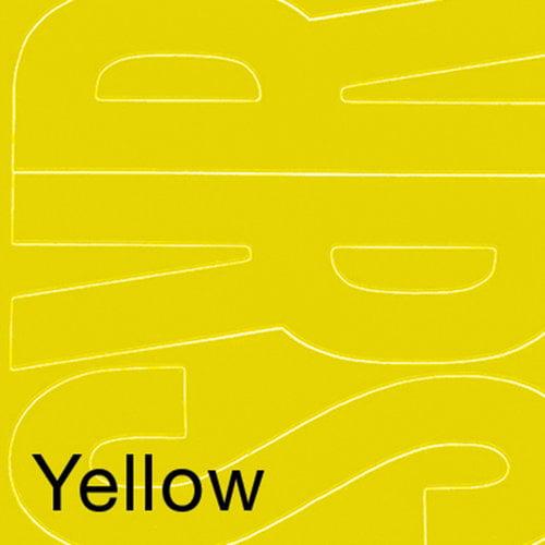 "Permanent Adhesive Vinyl Letters, 6"", 94pk, Yellow"
