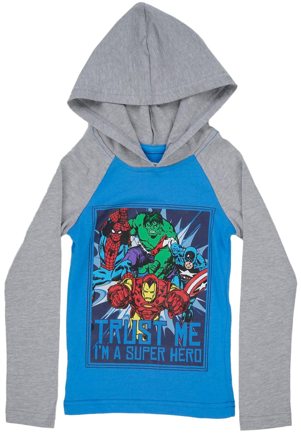Toddlers The Avengers Hooded Long Sleeve Shirt Boys Marvel