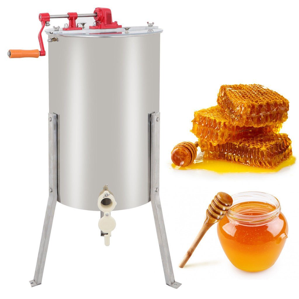 Zimtown Pro 2 Frame Stainless Steel Honey Extractor Beekeeping Equipment Honeycomb Drum