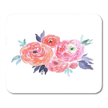 Wedding Clipart Graphics (KDAGR Abstract Bright Watercolor Bouquet of Flowers Wedding Design Floral Clipart Beauty Mousepad Mouse Pad Mouse Mat 9x10)
