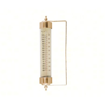 EZRead 12 in. Metal Glass Wall Mount Thermometer
