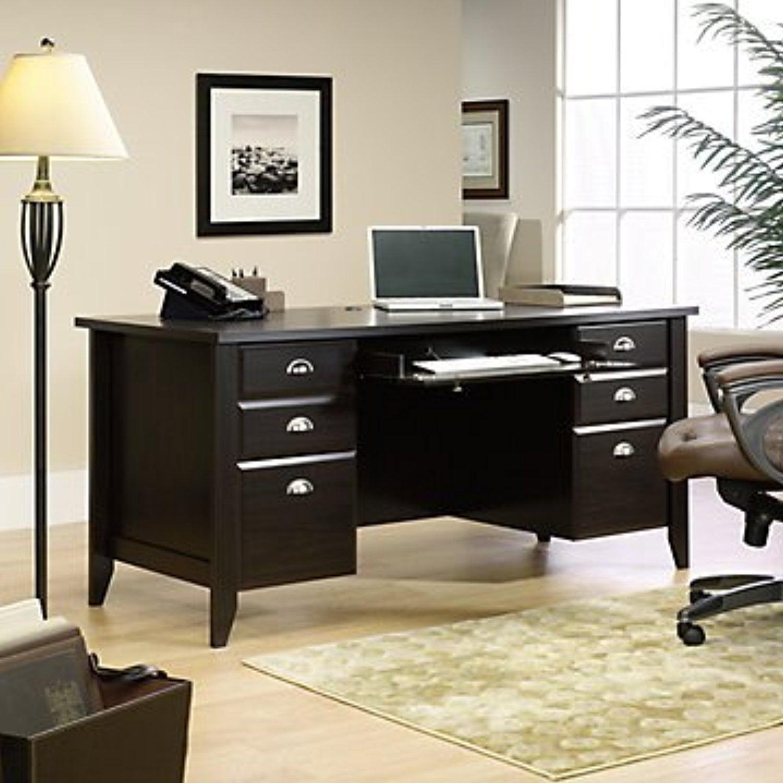 Sauder Office Furniture Shoal Creek Executive Desk, Jamoc...