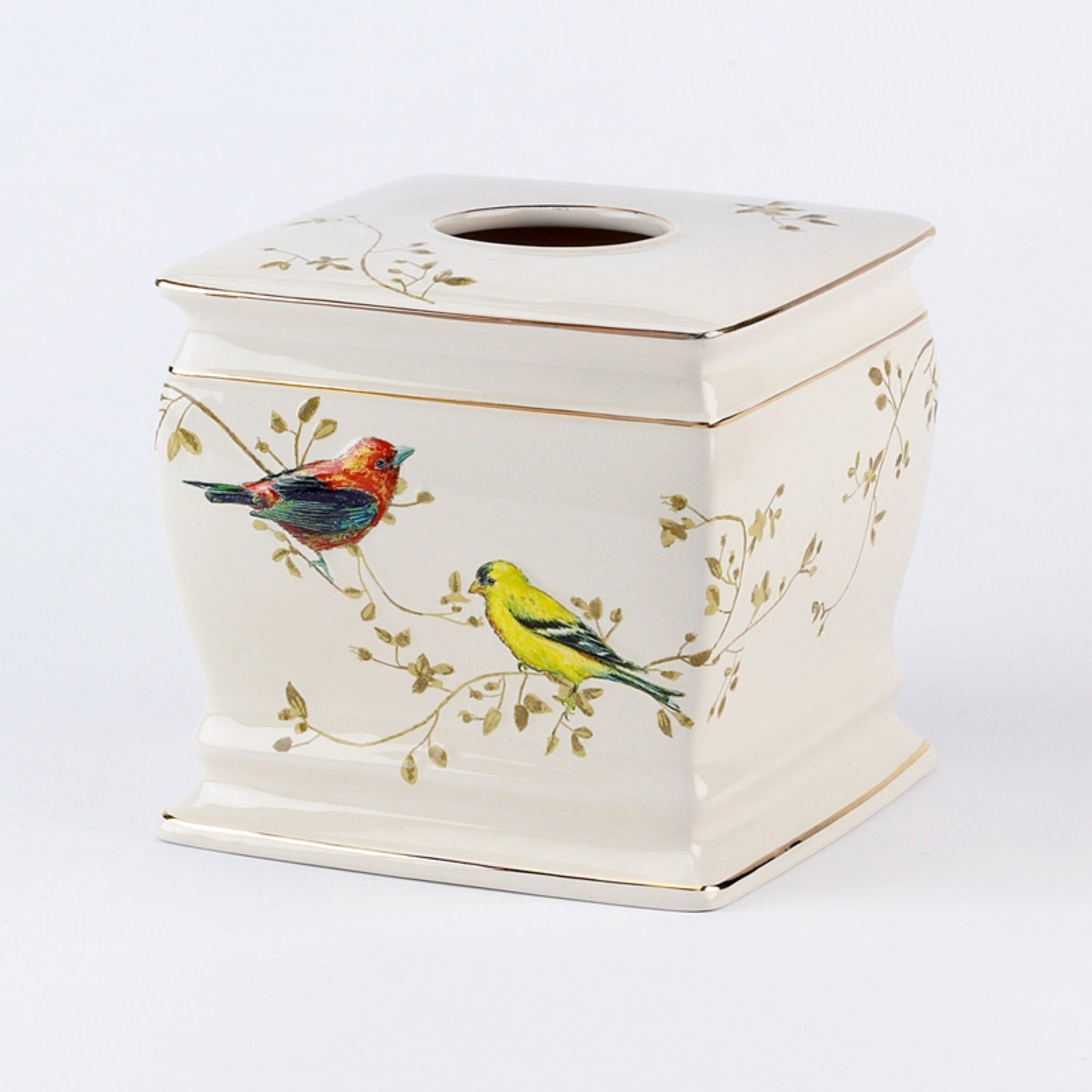 Avanti Linens Gilded Birds Tissue Holder