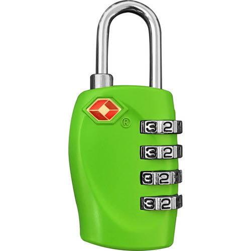TraverGo 4 Digit Combination Lock, Green TR1140GN