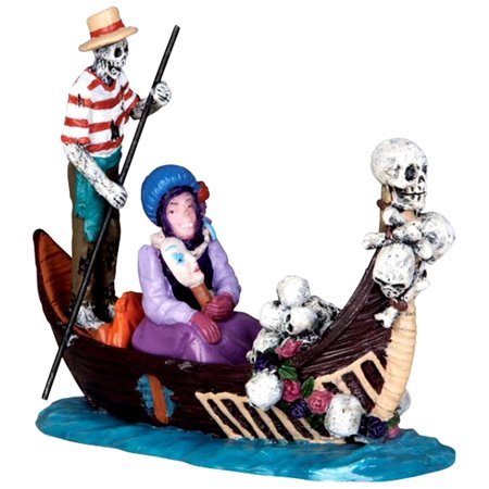 32116 Gondola Spooky Town Figure Village Halloween Decor Figurine O G Scale, Part of the Spooky Town collection. By Lemax Ship from US - Lemax Halloween Village Clearance