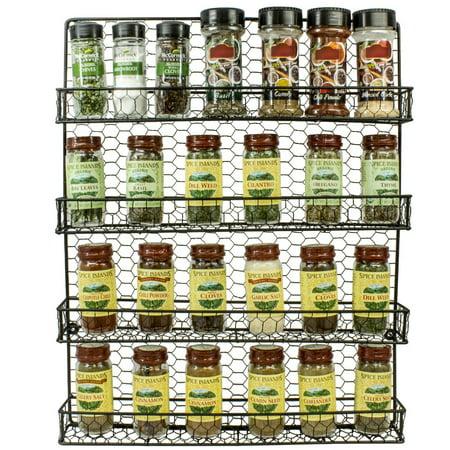 ddf61fab1a57 Spice Rack and Multi-Purpose Organizer-Decorative 4 Tier Wall ...