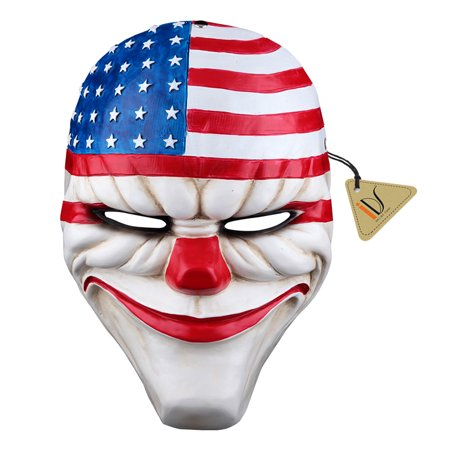Dallas Mall Halloween (Christmas Resin Dallas Heist Mask Clown Joker Cosplay Costume)