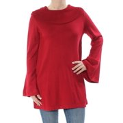 ALFANI Womens Red Bell Sleeve Cowl Neck Sweater  Size: S