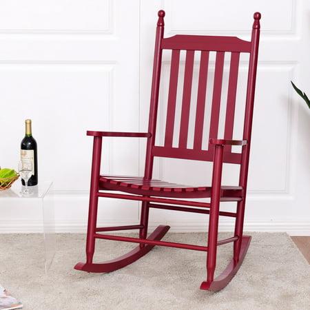 Read Child Boy Rocker (Gymax Wooden Rocking Chair Porch Rocker Armchair Balcony Deck Garden Furniture)
